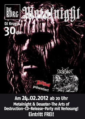 METALNIGHT flyer 2012-02 NEWS 2012