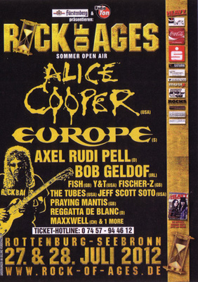 ROCK OF AGES flyer NEWS 2012